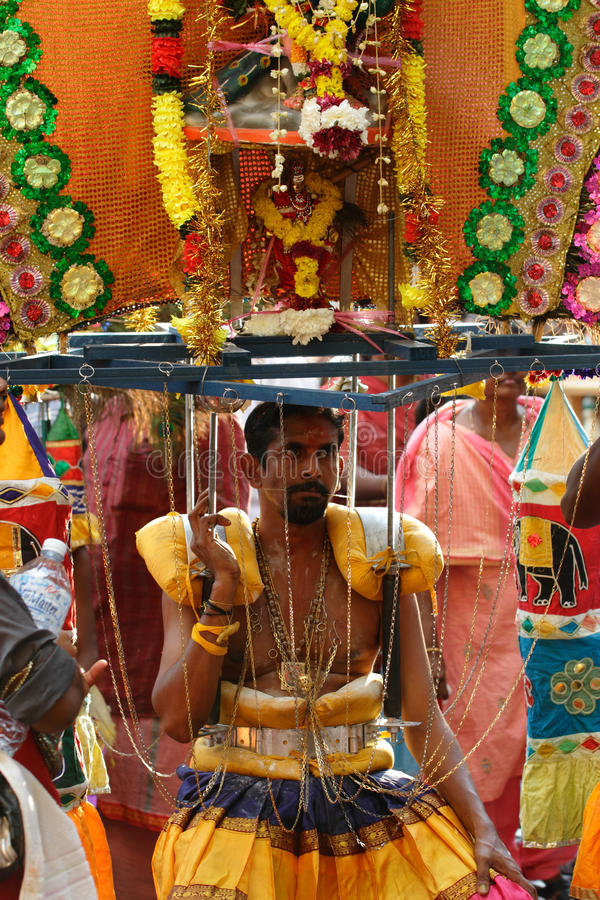 Man with Kavadi royalty free stock photography