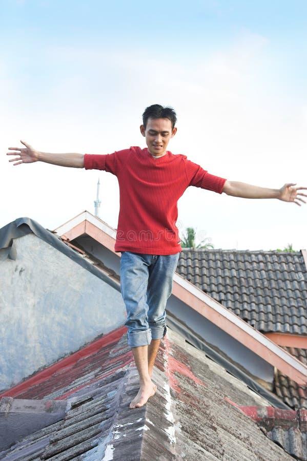 Man Keeping The Balance royalty free stock photo