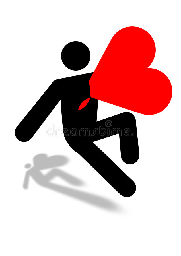 Download Man Killed With Love Icon Graphic Stock Photography - Image: 7843852