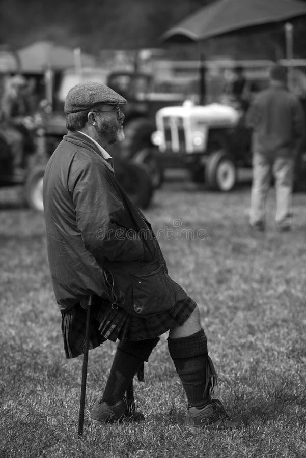 Man in Kilt stock images