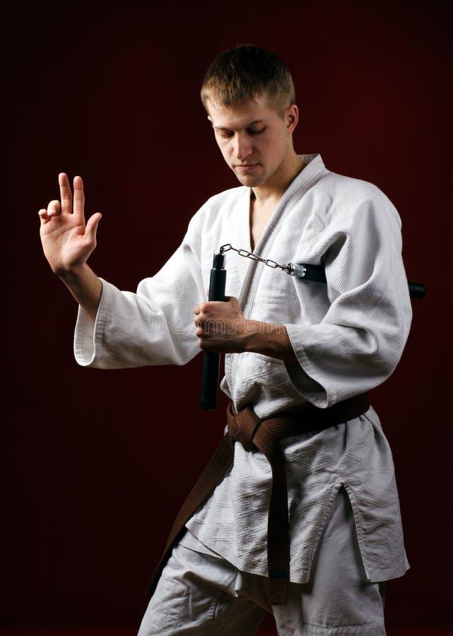Man In Kimono Royalty Free Stock Photography
