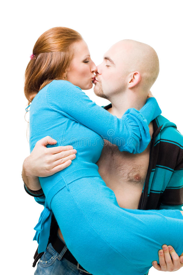 Download Man kiss and carry woman stock photo. Image of affectionate - 11196022