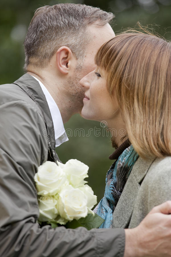 Download Man kisses woman by dating stock photo. Image of happiness - 10823030