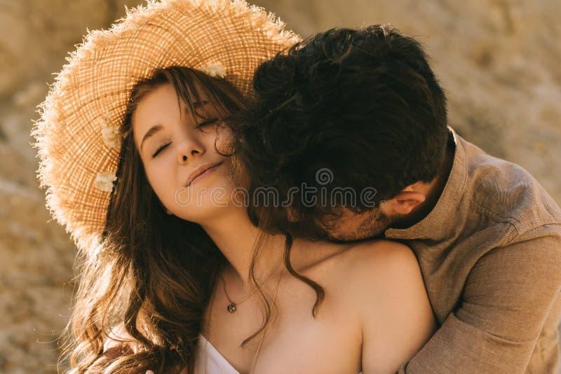 Neck kiss girl