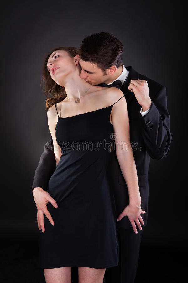young woman and man having sex
