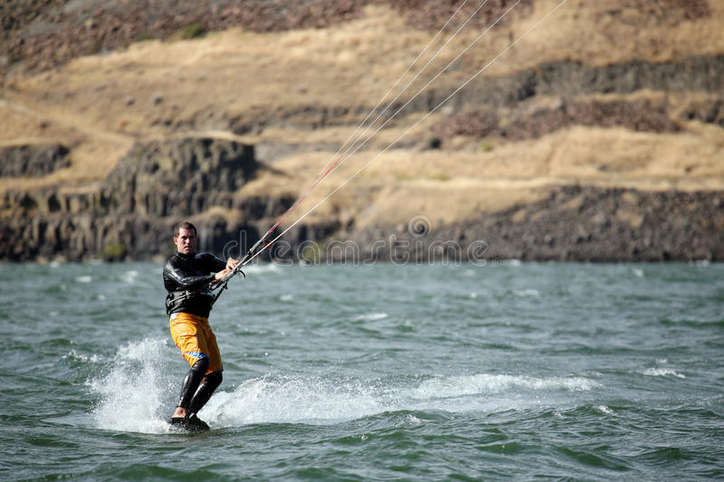 Download Man kite surfing on river editorial image. Image of activity - 18795715