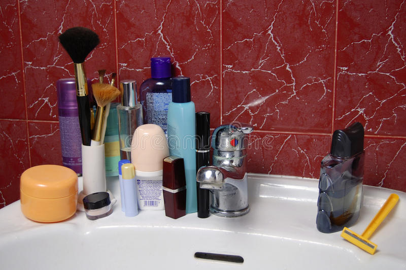 Download Man and lady stock image. Image of cosmetics, bottles - 13115369