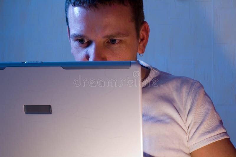 Man With Laptop royalty free stock photos