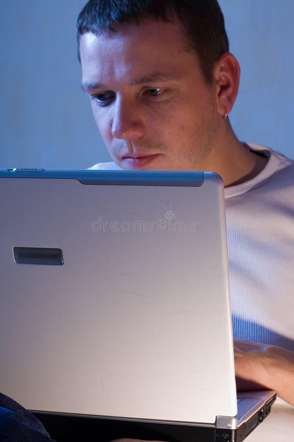 Download Man With Laptop stock image. Image of laptop, analyze - 1635559