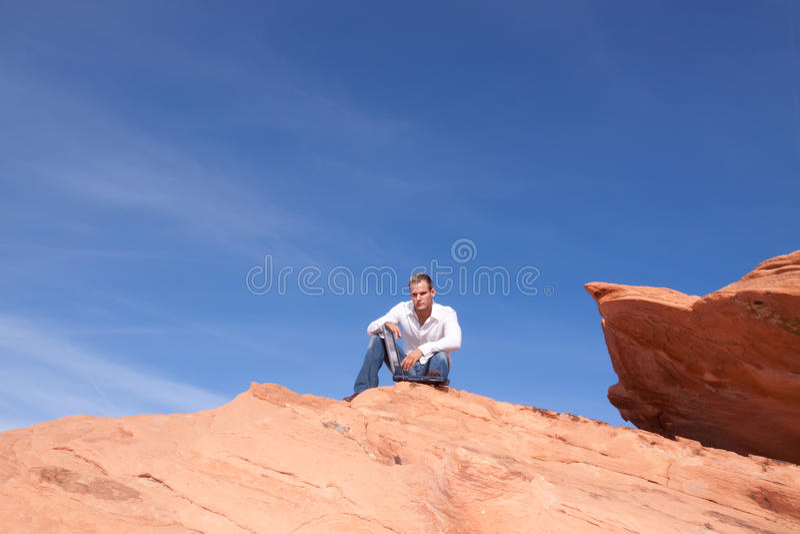 Download Man With Laptop Stock Image - Image: 20692381