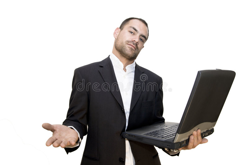 Man and laptop stock images
