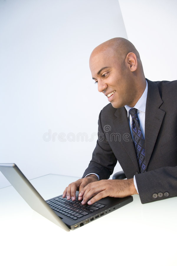 Man and laptop stock photography