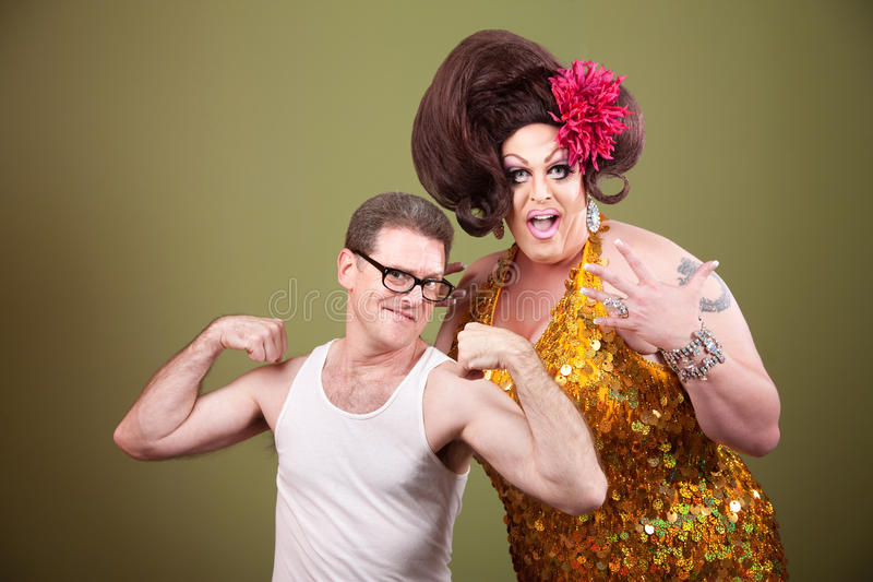 Download Man With Large Drag Queen stock image. Image of excite - 19963263