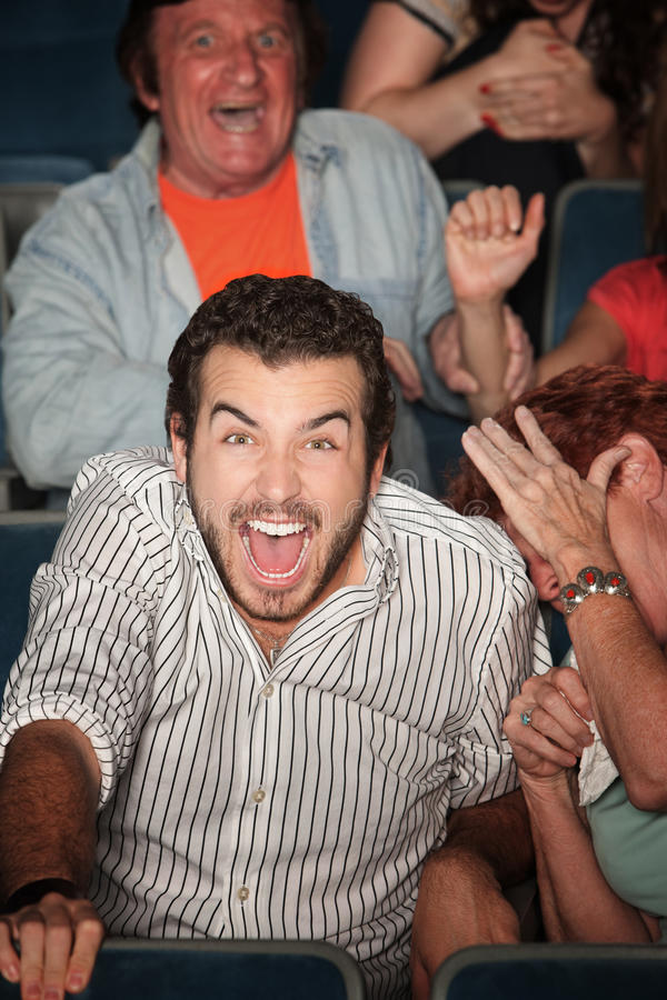 Download Man Laughs Out Loud stock image. Image of audience, male - 22448453