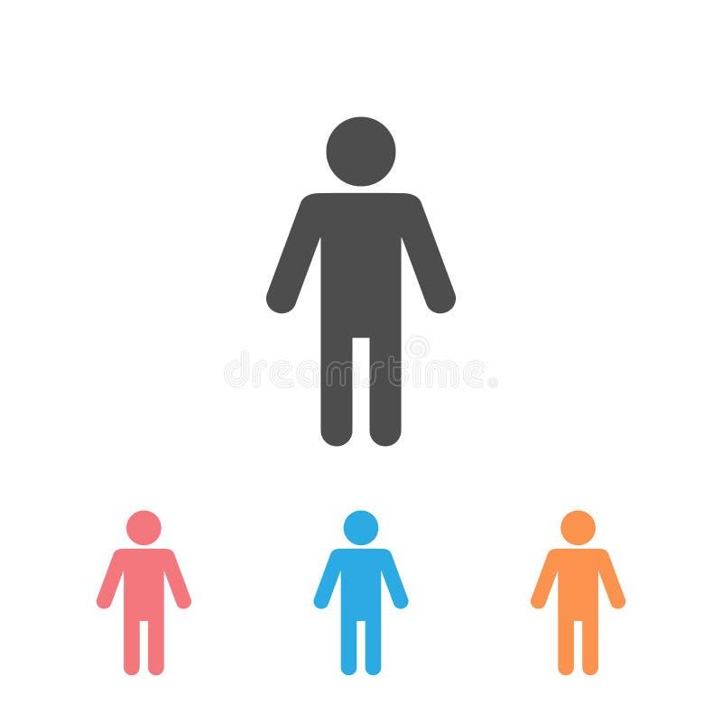 Man Lavatory Icon Set Sinal de Sala de Descanso Toilet para Vetor de Símbolo de Gents Logotipo de Ilustração WC masculina ilustração do vetor