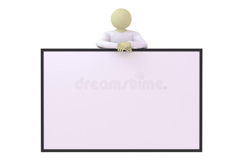 Download Man lean on banner stock illustration. Illustration of note - 11419422