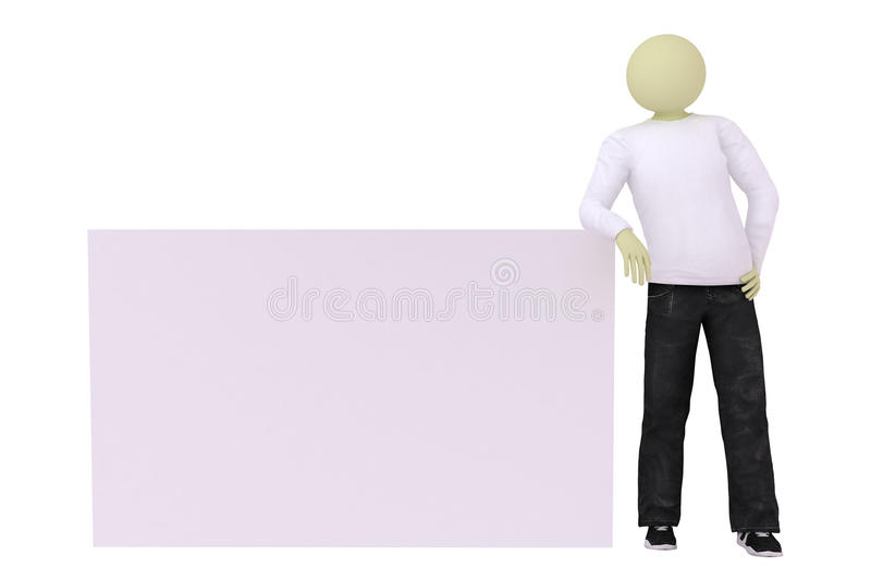 Download Man Lean Elbows On Banner Royalty Free Stock Images - Image: 11419399