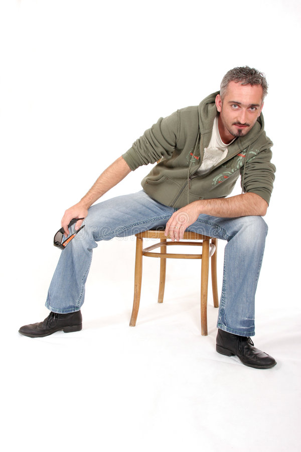 Download Man Leaning Over Royalty Free Stock Image - Image: 1422846