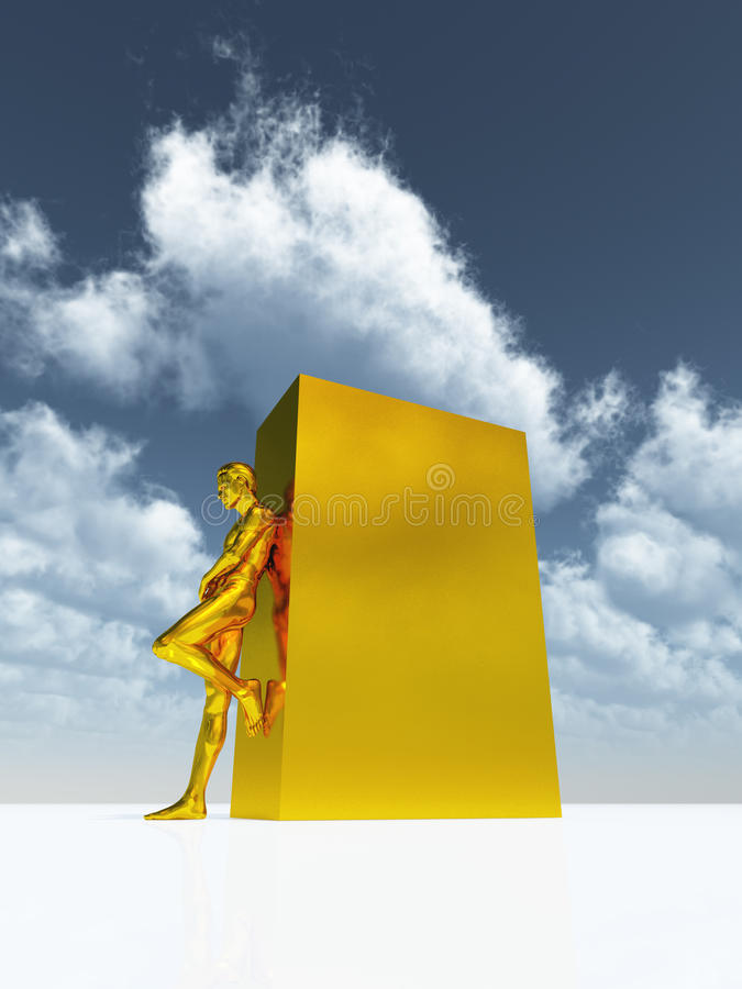 Download Man leans on a box stock illustration. Image of illustration - 11049901
