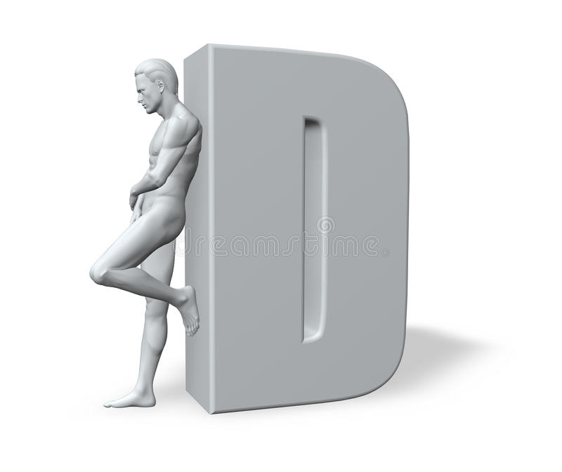 Download Man Leans On D Stock Images - Image: 11020934