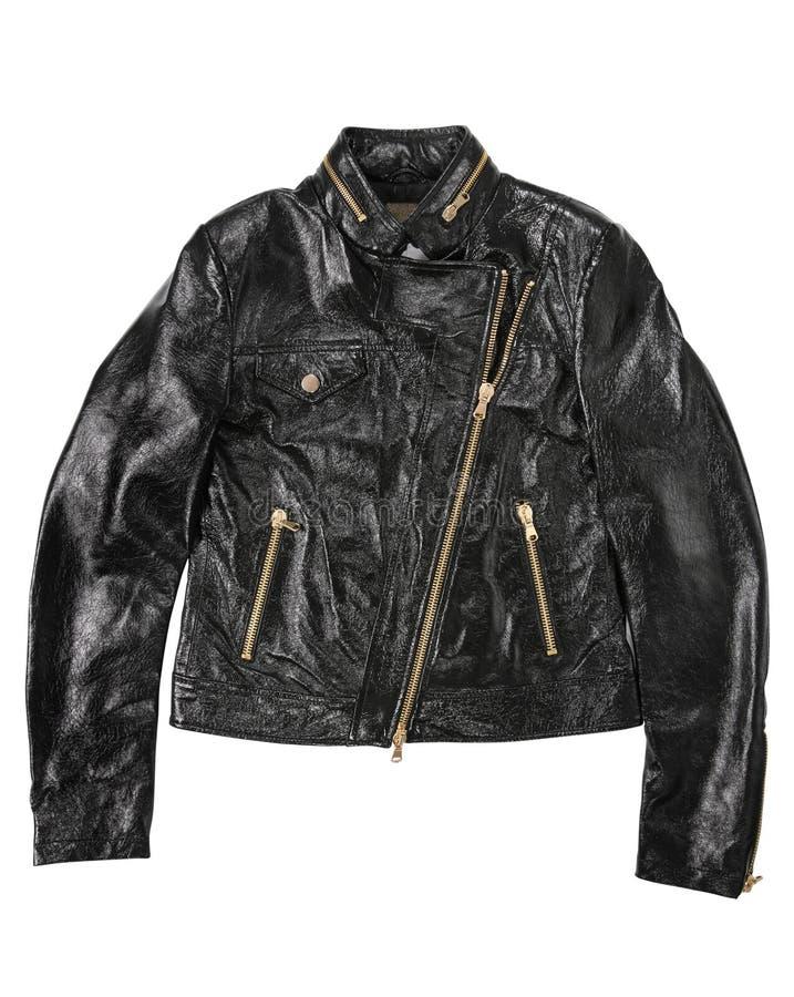 Man leather jacket stock photography