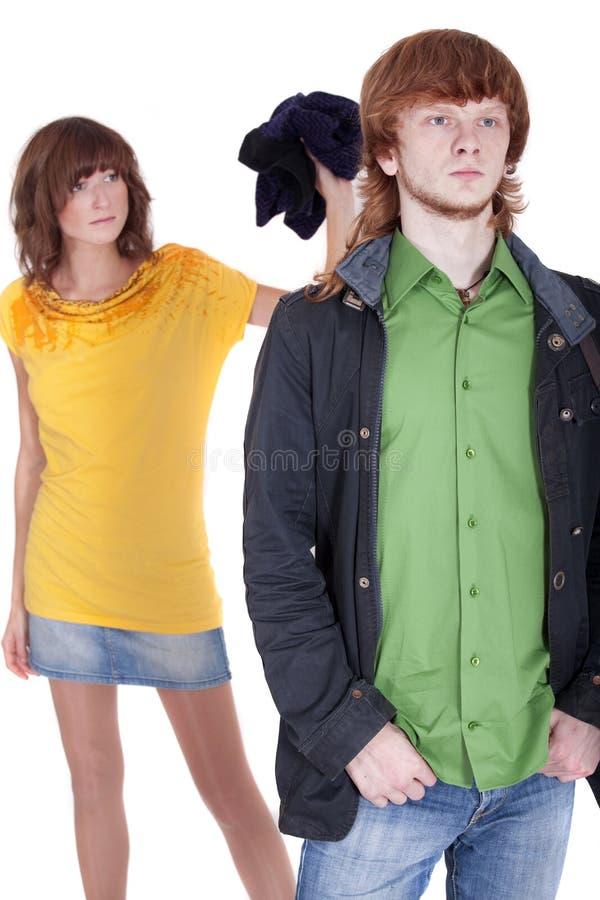 Download Man leaving girlfriend stock image. Image of sadness - 11903773