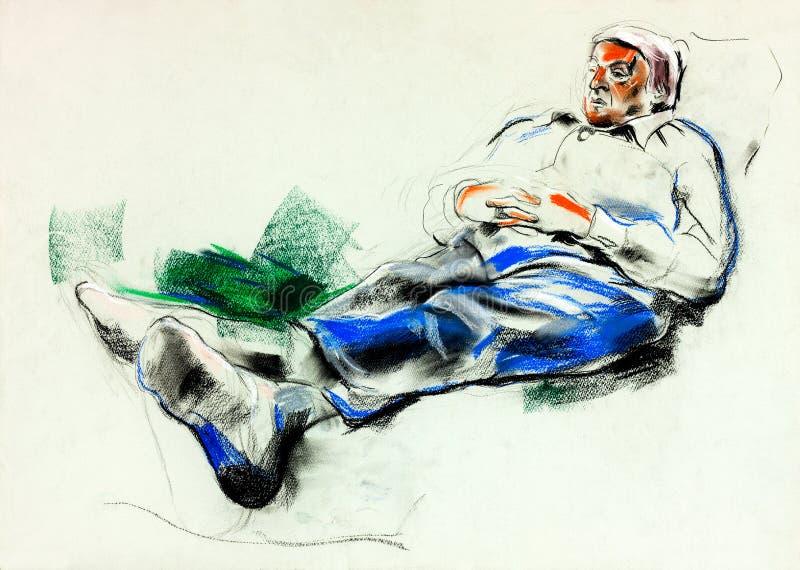 Man lieing on sofa