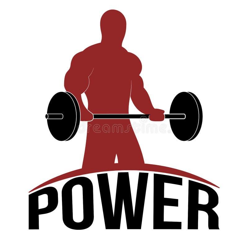Man Lifting barbell, Fitness Symbol, Vector Illustration royalty free illustration