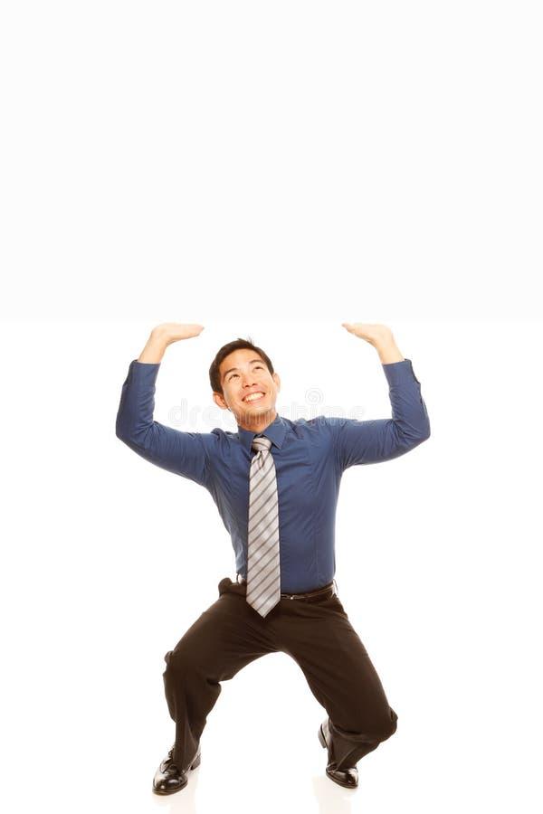 Download Man Lifting Blank Message stock photo. Image of shirt - 28375518