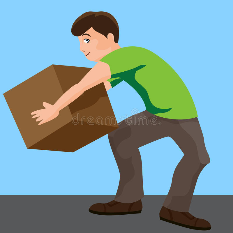 Download Man Lifting Box stock vector. Image of clipart, container - 42276959