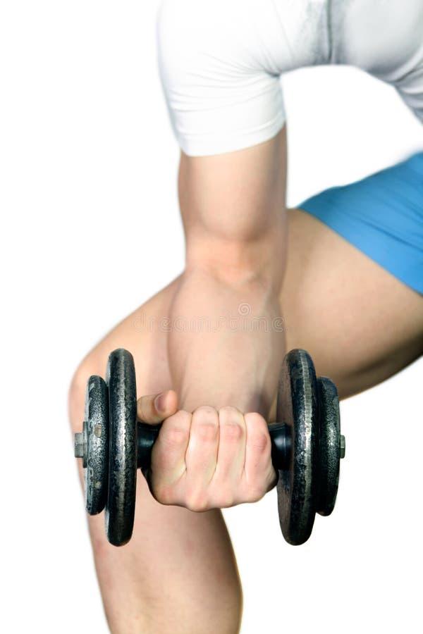 Download Man lifting dumbbells stock image. Image of underwear - 36677213