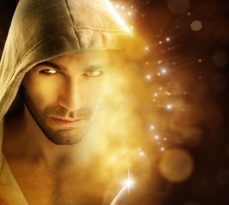Download Man of light stock image. Image of hooded, concept, fantasy - 27734365