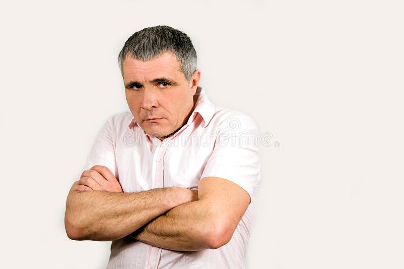Man emotions white black different sadness surprise joy adult isolated hands stock photos