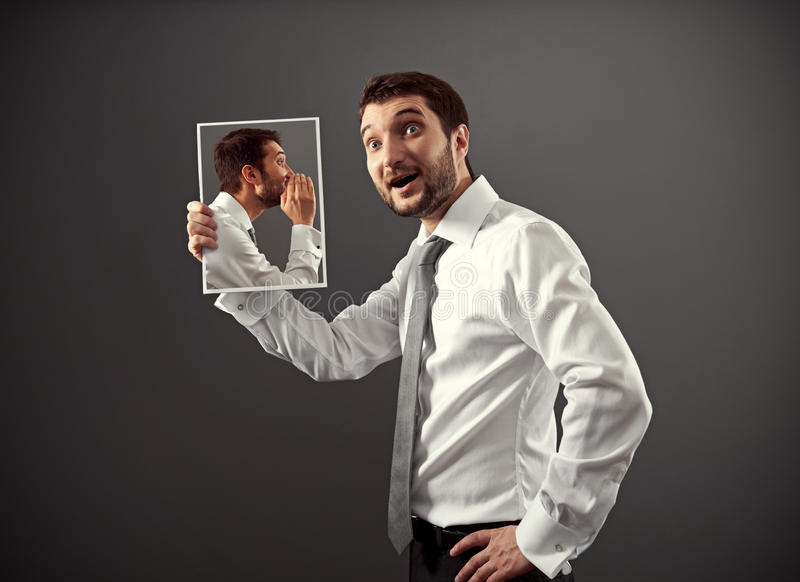 Download Man Listening His Inner Voice Royalty Free Stock Photos - Image: 30414658