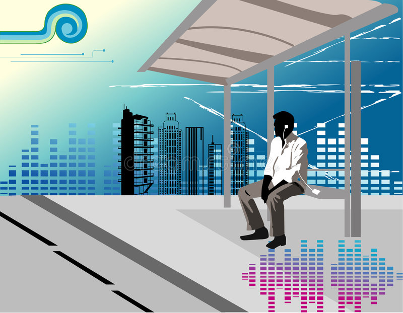 Download Man listening music stock vector. Illustration of sound - 5025609