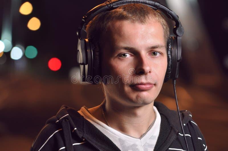 Download Man Listening Music At City Stock Image - Image: 16497717