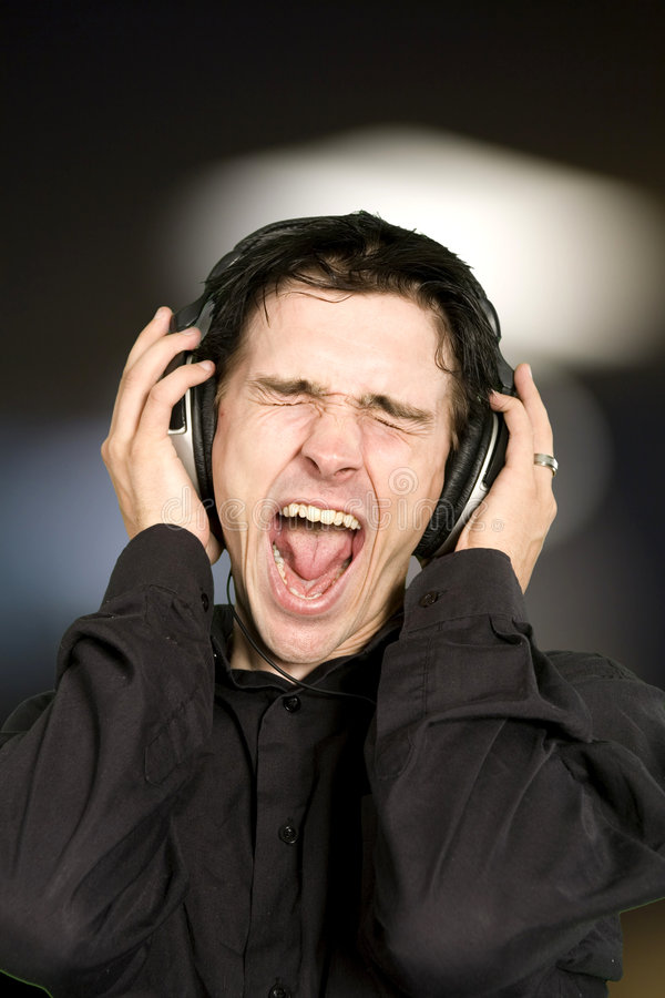 Free Man Listening To Music Stock Photography - 7484032