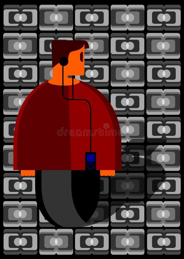 Man listening to music player