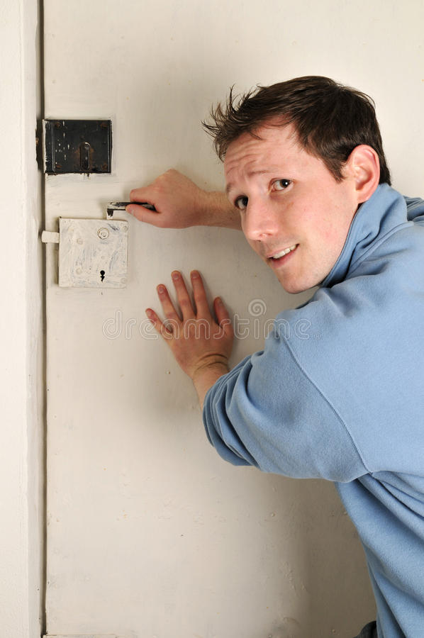 Download Man locked out of room stock image. Image of back, assistance - 9719855