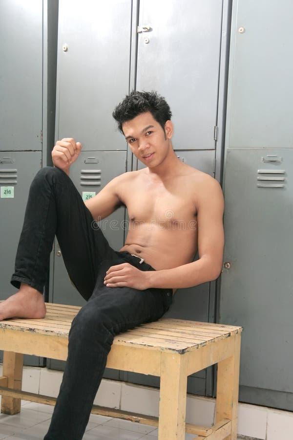 Download Man in Locker room stock image. Image of schoole, school - 6190277
