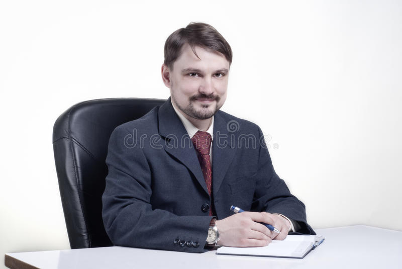 Download Man with the daily log stock photo. Image of paper, plan - 14349974