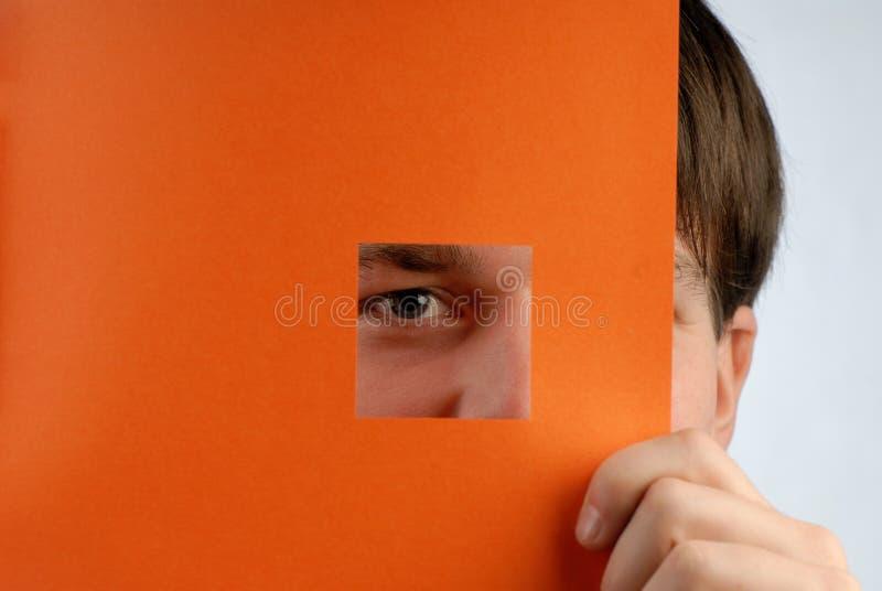 Download Man look stock image. Image of light, macro, look, paper - 6972211