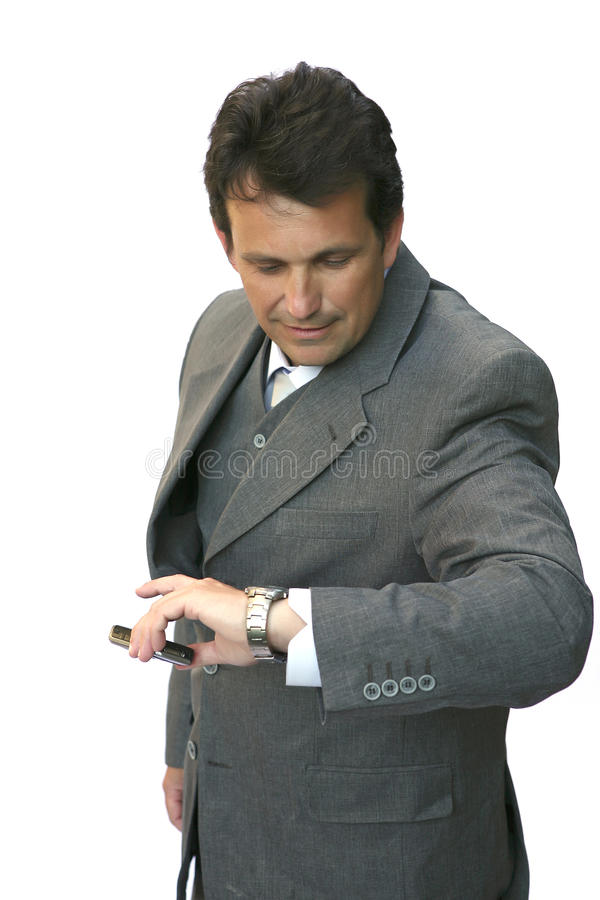 Download Man look on watches stock image. Image of bundle, contractor - 9784043