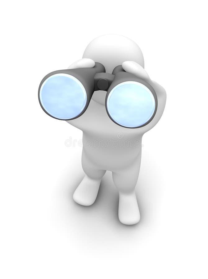 Download Man Looking Through Binoculars Stock Photo - Image: 10978340