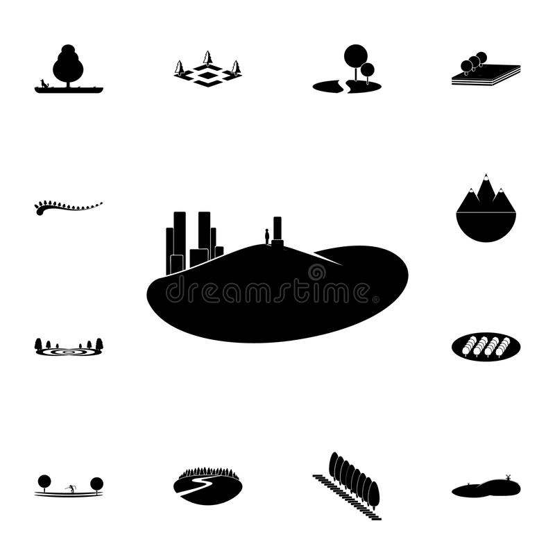 a man looking at the city icon. Detailed set of Park and landscape icons. Premium quality graphic design sign. One of the collecti royalty free illustration