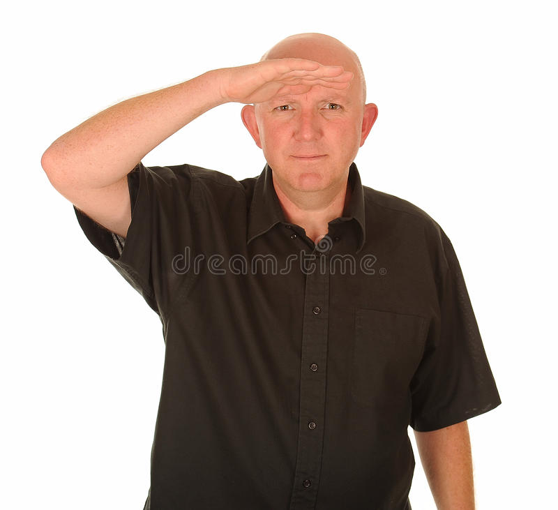 Download Man looking into distance stock image. Image of black - 26365031