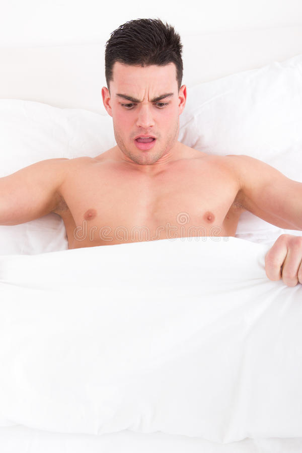Download Man Looking Down At His Underwear At His Penis Stock Photo - Image: 40127578