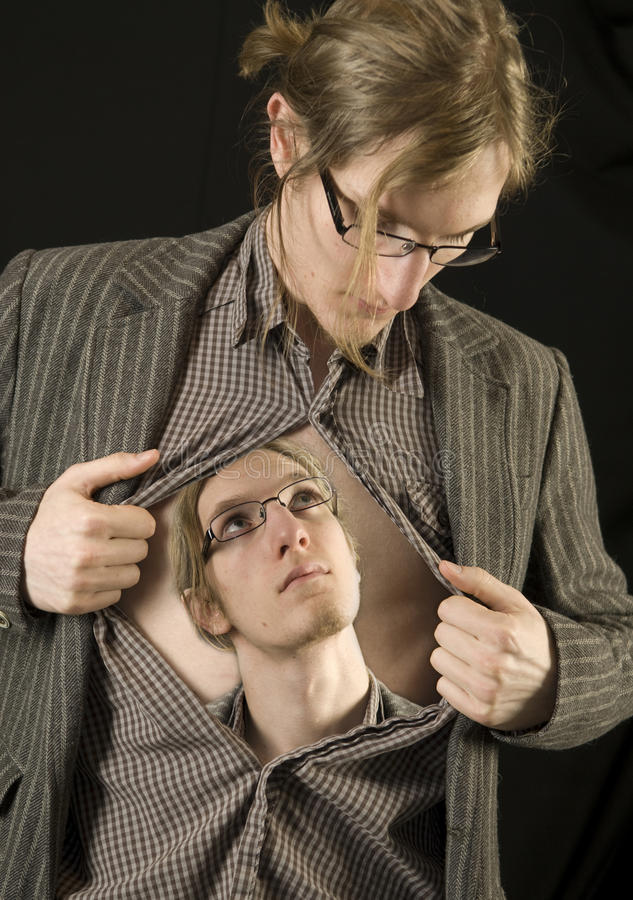 Download Man looking at himself_2 stock photo. Image of looking - 17926706