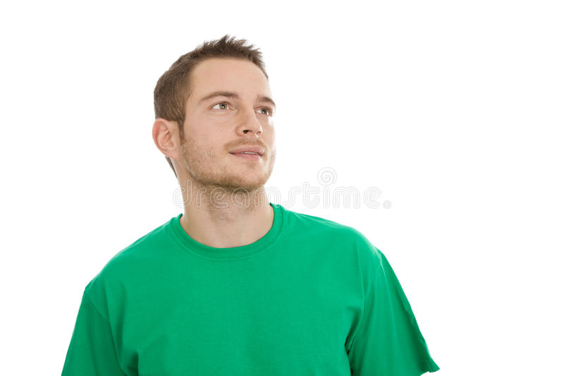 Man Looking Into His Future Stock Images
