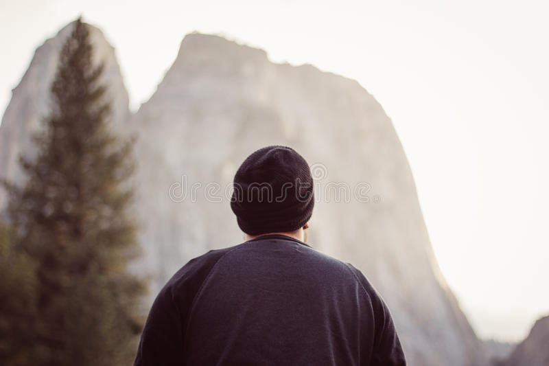 Man Looking At Mountain Peak Free Public Domain Cc0 Image